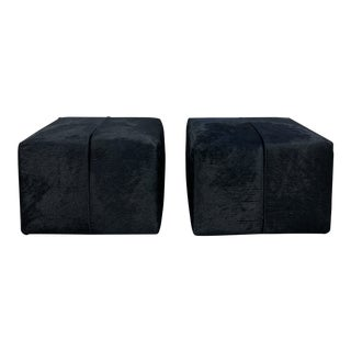 B & B Italia Antonio Citterio P60 Hide Ottomans - a Pair For Sale