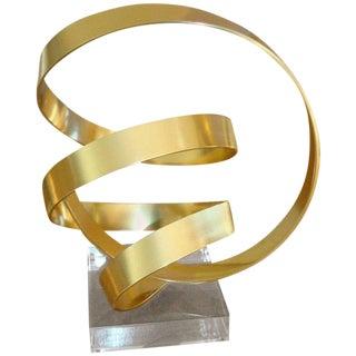 Dan Murphy Brass Abstract Sculpture For Sale