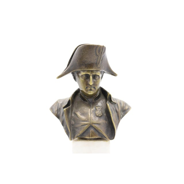 Gold French Empire Bronze Napoleon Bust For Sale - Image 8 of 8