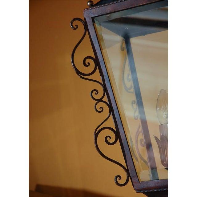 Brass Italian Brass Wall Lantern For Sale - Image 7 of 9