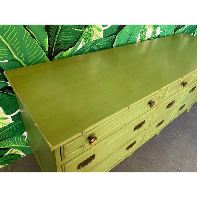 Vintage Ficks Reed Faux Bamboo Dresser For Sale - Image 6 of 7