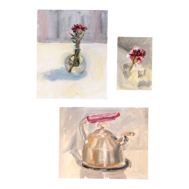 Gallery Wall Collection 3 Original Contemporary Still Life Paintings For Sale