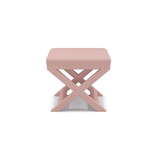 Not Yet Made - Made To Order X Bench in Blush Velvet For Sale - Image 5 of 5