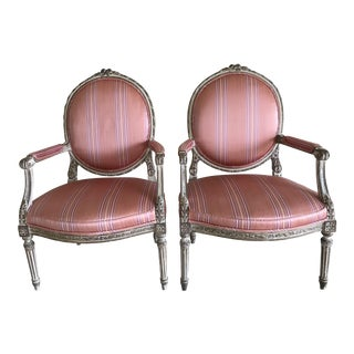 Vintage French Louis XV Style Chairs - a Pair