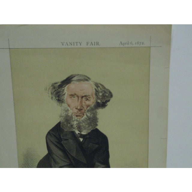 Americana April 6, 1872 Men of the Day No. 43 The Scientific Use of Imagination Vanity Fair Print For Sale - Image 3 of 4