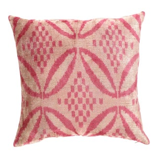 Turkisk Hand Woven Silk Velvet Pillow 20'' #Ti 302 For Sale