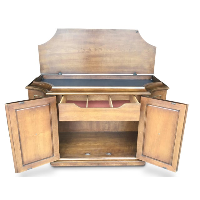 Mid-Century Wood Buffet or Bar - Image 4 of 7