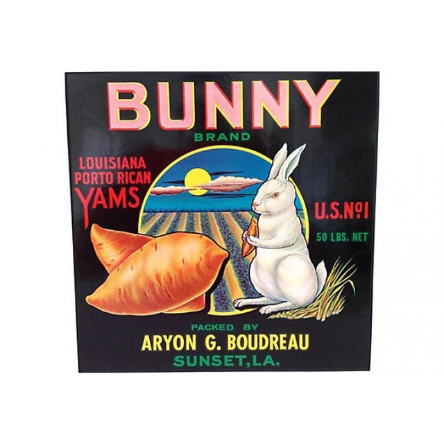 1940s Bunny Brand Yams Crate Label - Image 3 of 4