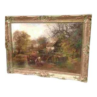 19th C. British Landscape Oil Painting For Sale