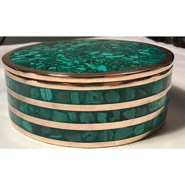 Round Malachite Jewelry Box - Image 3 of 5