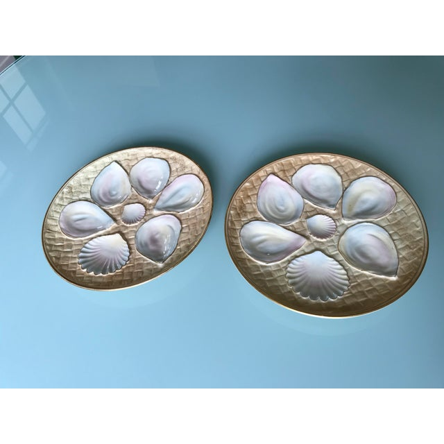 Late 19th Century 19th Century Royal Worcester Oyster Plates - a Pair For Sale - Image 5 of 5