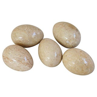 Italian Polished Marble Eggs - Set of 5 For Sale