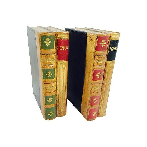 Faux Leather Ceramic Bookends- A Pair - Image 3 of 4