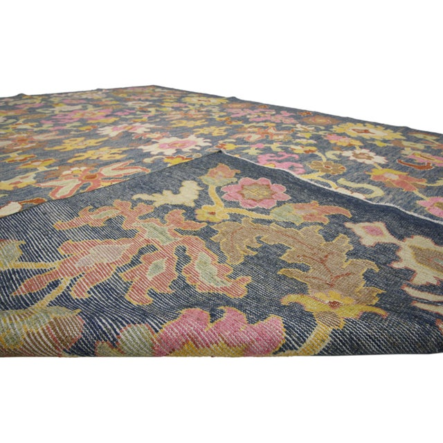 Contemporary Contemporary Turkish Oushak Rug - 9′10″ × 13′5″ For Sale - Image 3 of 7