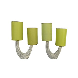 1950s Kelby Ceramic Mid-Century Modern Lamps - a Pair For Sale