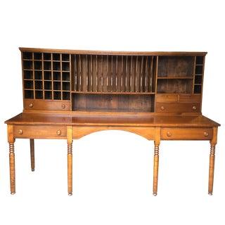 Antique Monumental Post Office Plantation Primitive Apothecary Sorting Desk For Sale