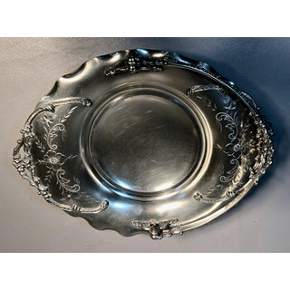 1920s Vanburgh Bride's Footed Basket Quadruple Silver Plate W/Chased Silver & Engravings Preview