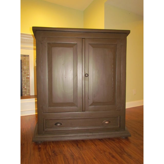 Solid Pine Media Armoire - Image 2 of 4