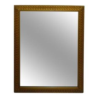 "Vintage Gold Gilt 29"" Geometric Wall Mirror"