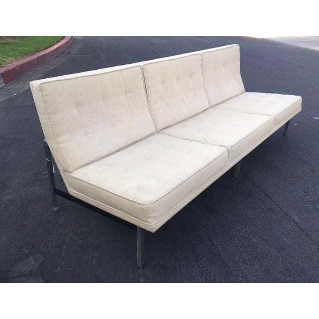 "Florence Knoll ""Parallel Bar"" Armless Sofa For Sale - Image 5 of 8"