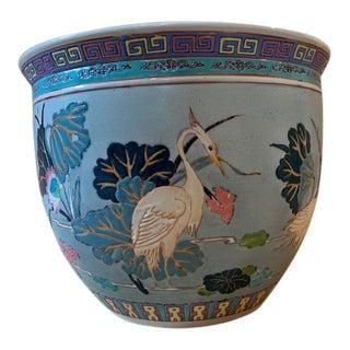 Vintage Asian Fishbowl Planter For Sale