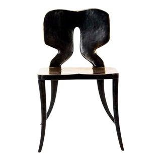 Modern Coco Hand Forged Bronze Dining Chair For Sale