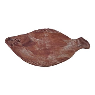 Vintage Thora Ovenware Art Pottery Fish Dish For Sale