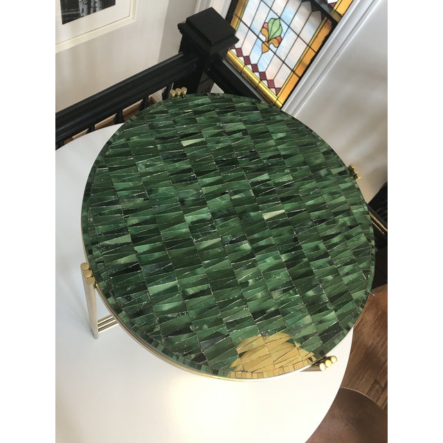 2010s Art Deco Mosaic Side Table For Sale - Image 5 of 8