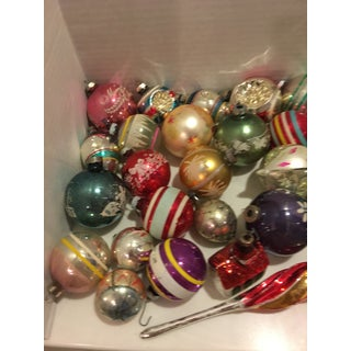 Vintage Assorted Glass Christmas Bulbs - Set of 37 Preview