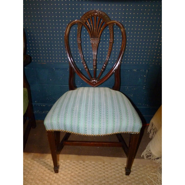 Mahogany Heart Shieldback Chairs - Set of 12 - Image 4 of 9