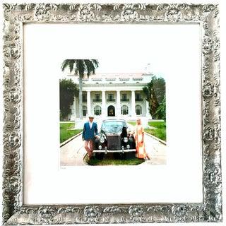 "Vintage Mid-Century ""Donald Leas & Friend Palm Beach"" Slim Aarons Signed Original Photograph For Sale"