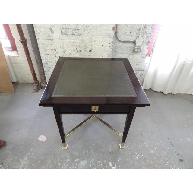 1900 - 1909 Secessionist Game Table with Synchronized Mechanical Trays For Sale - Image 5 of 8