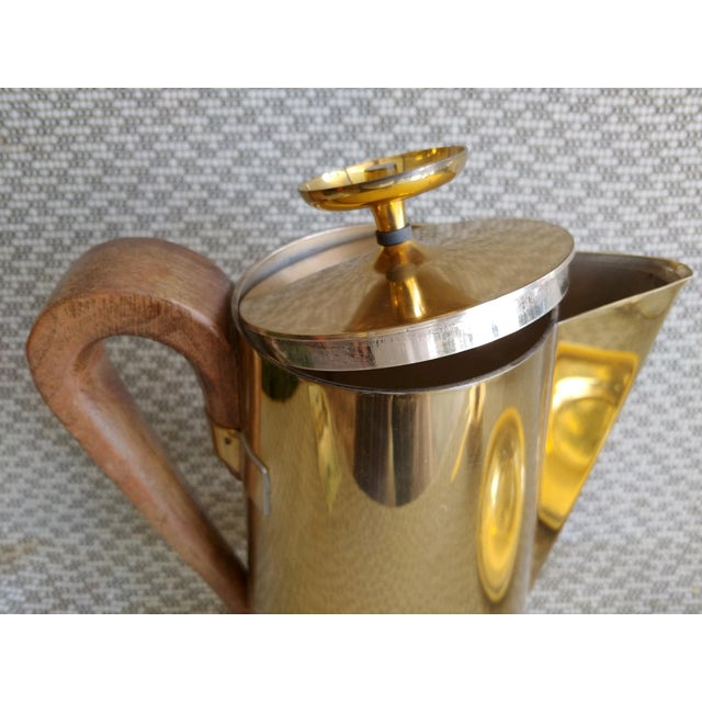 Metal Tommi Parzinger Brass Coffee Server Set For Sale - Image 7 of 11