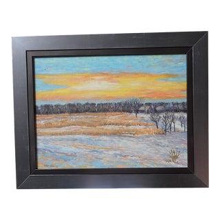 Original Vintage Impressionist Oil/Board-Landscape-Signed-Listed American Artist-Framed For Sale