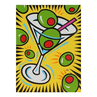 Martini and Olives, Painting by Burton Morris