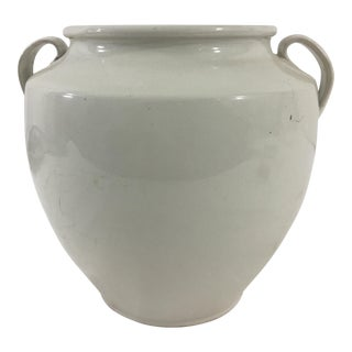 French White Glazed Conserve Pot