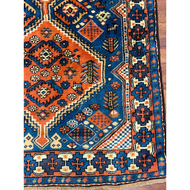 "Transitional 1940s Vintage Turkish Tribal Rug-3'7'x7"" For Sale - Image 3 of 8"