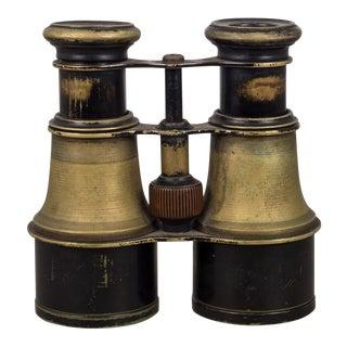 Wwii Miltary Brass Binoculars, Circa 1940s For Sale