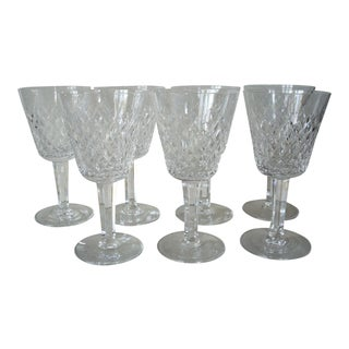 Waterford Red Wine Crystal Stems - Set of 7 For Sale