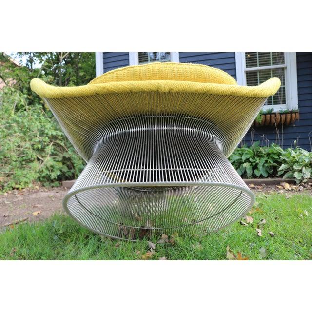 Mid-Century Modern 1966 Vintage Warren Platner for Knoll International Easy Chair & Ottoman For Sale - Image 3 of 10