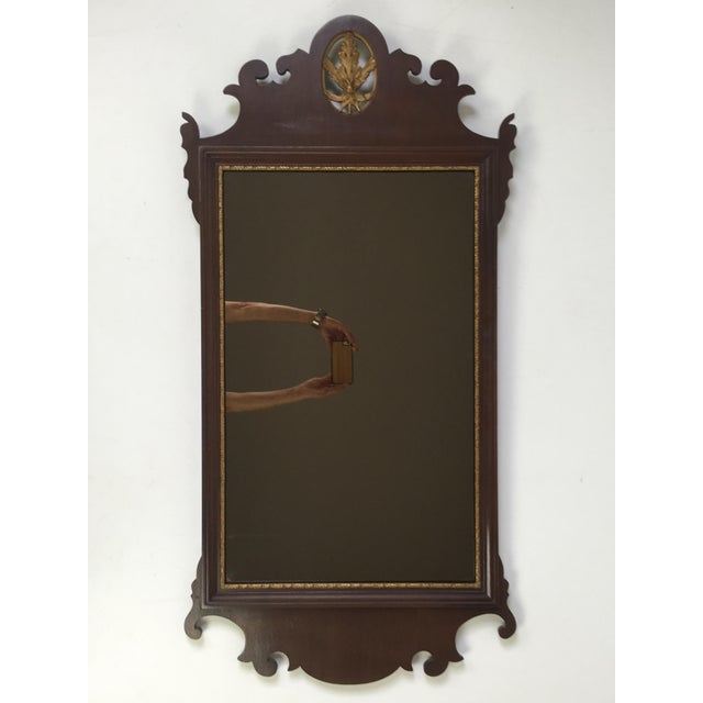 Mahogany Chippendale Mirror With Gilt Detail - Image 2 of 6