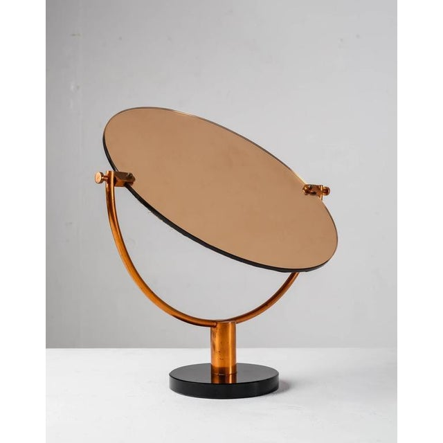 Copper Console or Table Mirror on Round Glass Foot, Germany, 1920s-1930s - Image 3 of 9