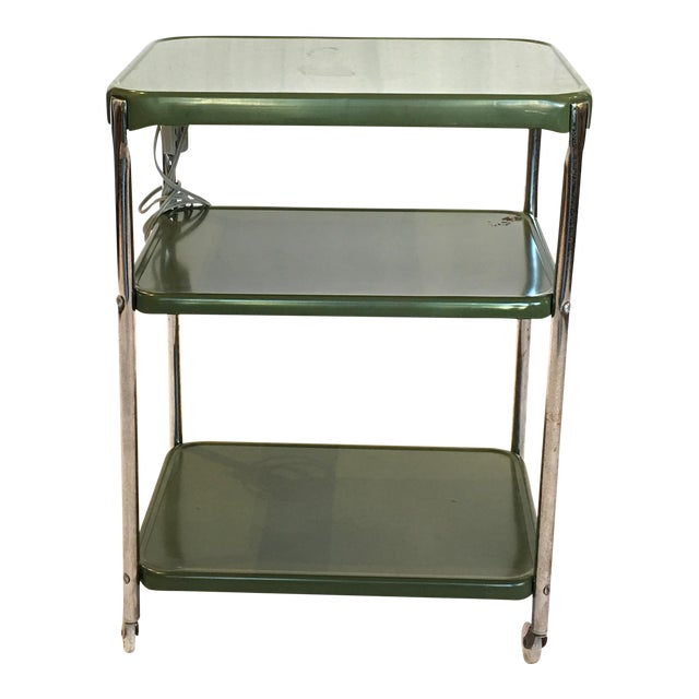 Metal Cosco Rolling Bar Cart - Image 1 of 5