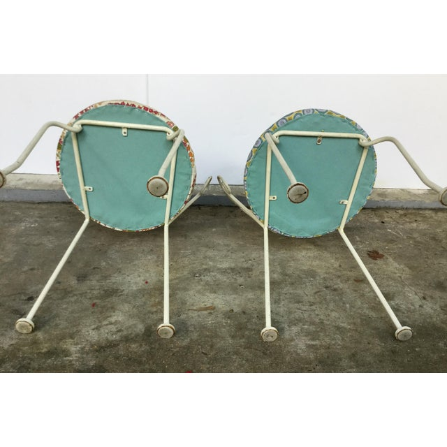 Mid-Century Painted Cast Iron Chairs - A Pair - Image 9 of 9