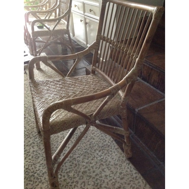 Rattan Dining Chairs - Set of 4 - Image 6 of 7