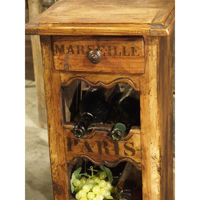 a7e6df1051 Wood French Wooden Wine Bottle Holder For Sale - Image 7 of 10