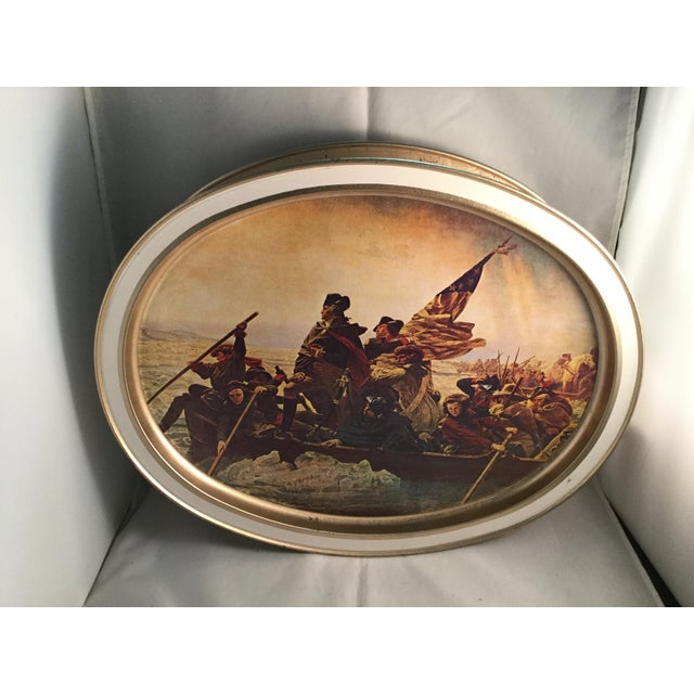 Washington Crossing the Delaware Decorative Biscuit Container For Sale - Image 11 of 11