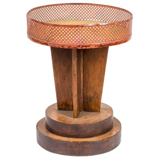 1920s French Deco Round Top Occasional Table or Plant Stand For Sale