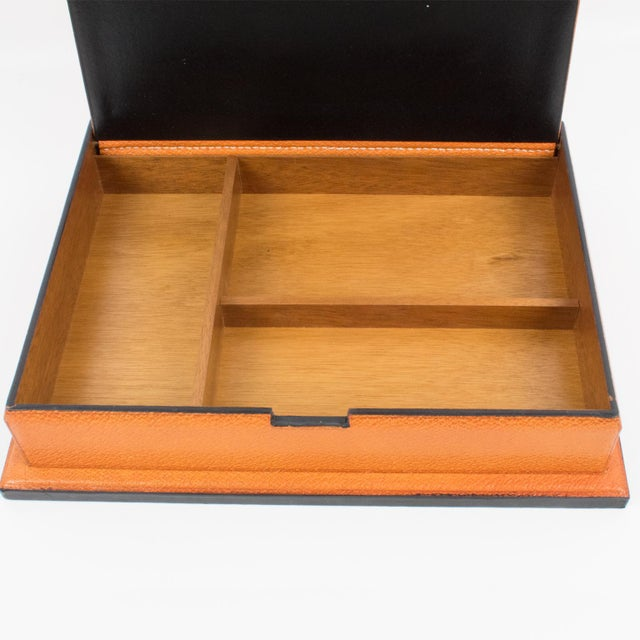 Longchamp Hand-Stitched Leather Box For Sale - Image 9 of 13