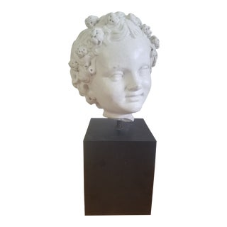 1980s American Classical Rom Bust of a Young Girl For Sale